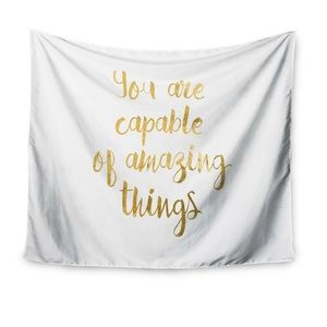 """You are capable of amazing things"" Wall Tapestry"